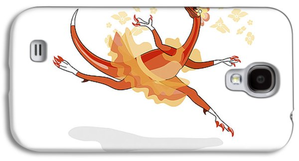 Fictional Galaxy S4 Cases - Illustration Of A Ballerina Dancing Galaxy S4 Case by Stocktrek Images
