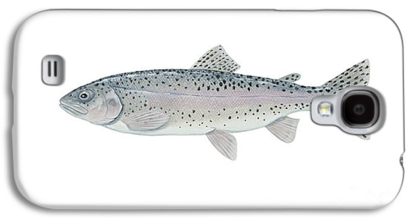 Rainbow Trout Digital Galaxy S4 Cases - Illustration Of A Steelhead Trout Galaxy S4 Case by Carlyn Iverson