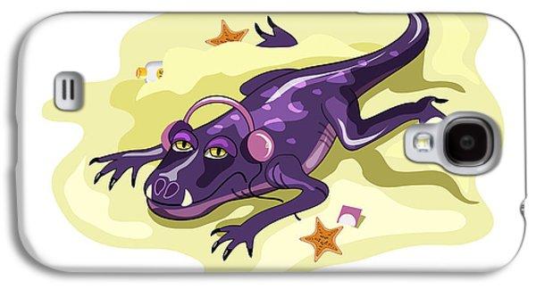 Listening Digital Galaxy S4 Cases - Illustration Of An Anteosaurus Galaxy S4 Case by Stocktrek Images