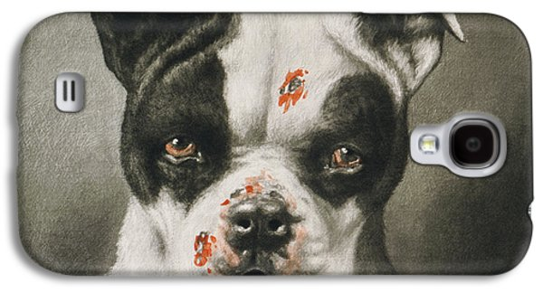 Blood Drawings Galaxy S4 Cases - Im a bad dog What kind of a dog are you Circa 1895 Galaxy S4 Case by Aged Pixel