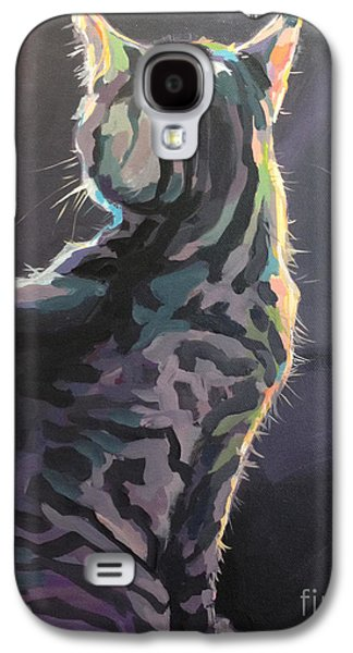 Gray Tabby Galaxy S4 Cases - Im Not Listening Galaxy S4 Case by Kimberly Santini