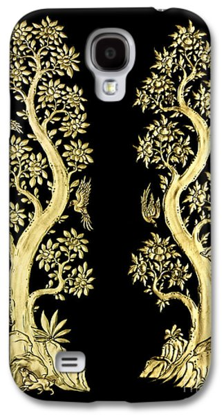 Ancient Sculptures Galaxy S4 Cases - Images artistic from Thai painting and literature for background Galaxy S4 Case by Pakorn Kitpaiboolwat