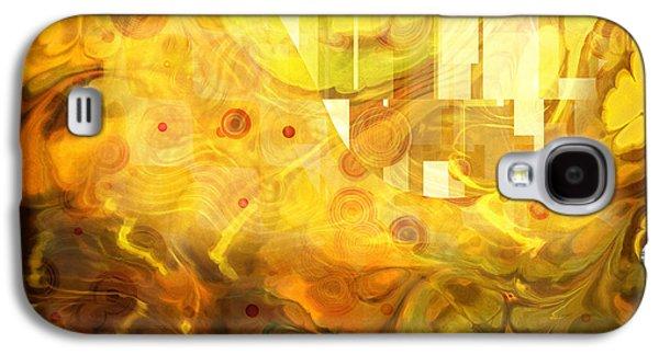 Abstract Digital Mixed Media Galaxy S4 Cases - Imaginary Galaxy S4 Case by Lutz Baar
