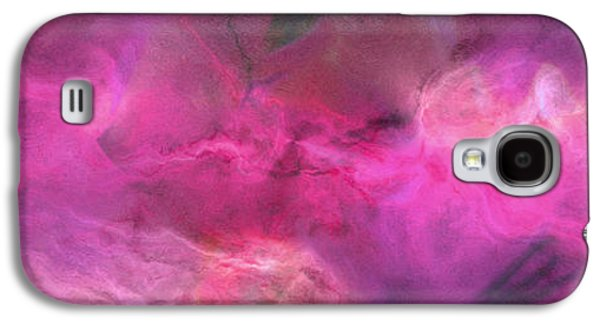 Print On Canvas Galaxy S4 Cases - Imagination In Ruby Fire - Abstract Art Galaxy S4 Case by Jaison Cianelli