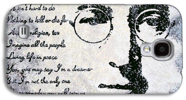 John Lennon Paintings Galaxy S4 Cases - Imagine-John Lennon Galaxy S4 Case by Bryan Dubreuiel