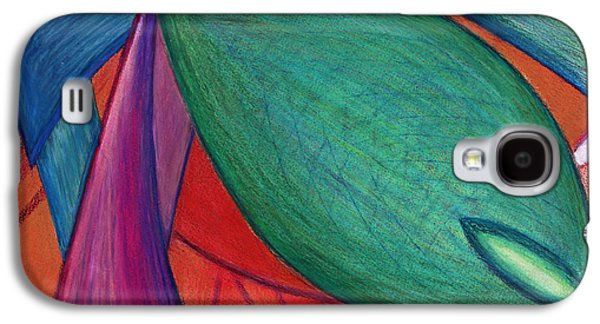 Abstract Movement Drawings Galaxy S4 Cases - Imagine the Otherwise Galaxy S4 Case by Kelly K H B