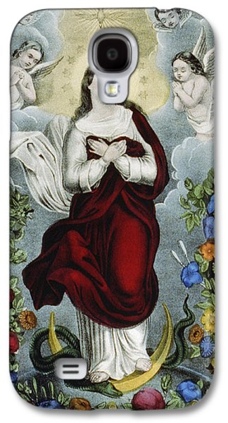 Christian Drawings Galaxy S4 Cases - Immaculate Conception Circa 1856  Galaxy S4 Case by Aged Pixel