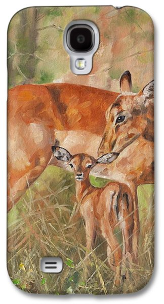 Nurture Galaxy S4 Cases - Impala Antelop Galaxy S4 Case by David Stribbling