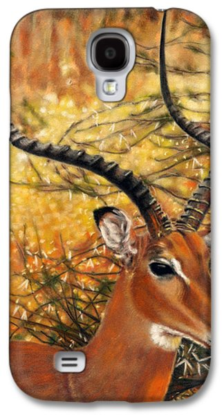Orange Pastels Galaxy S4 Cases - Impala At Sunset Galaxy S4 Case by Carol McCarty