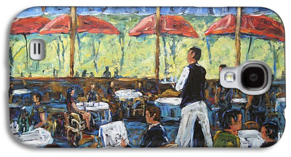Canadiens Paintings Galaxy S4 Cases - Impresionnist Cafe by Prankearts Galaxy S4 Case by Richard T Pranke