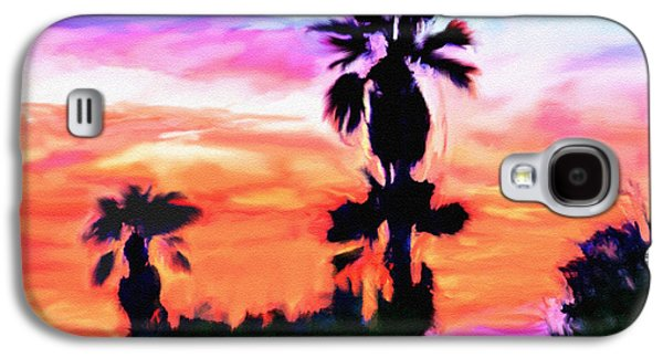 Abstract Digital Mixed Media Galaxy S4 Cases - Impression Desert Sunset V2 Galaxy S4 Case by  Bob and Nadine Johnston