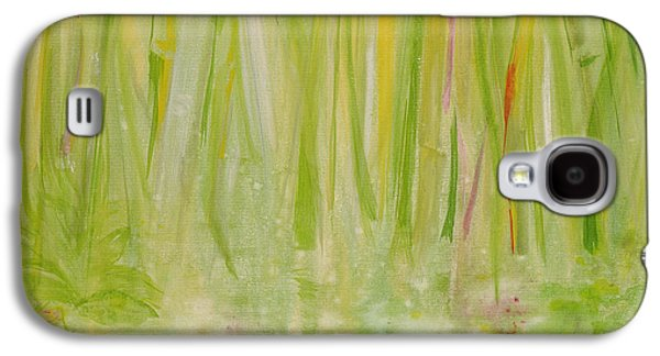 Abstract Landscape Galaxy S4 Cases - Impression Of The Rain Forest, 1991 Acrylic On Canvas Galaxy S4 Case by Laila Shawa