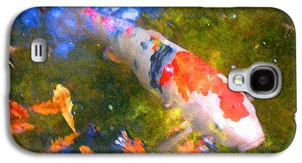 Fish Pond Galaxy S4 Cases - Impressionism  Koi 2 Galaxy S4 Case by Amy Vangsgard