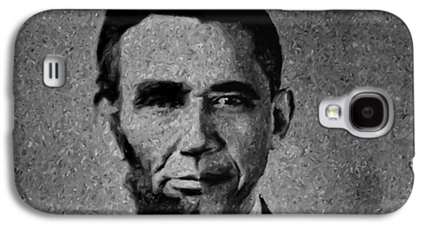 Recently Sold -  - Barack Obama Galaxy S4 Cases - Impressionist Interpretation of Lincoln Becoming Obama Galaxy S4 Case by Michael Braham