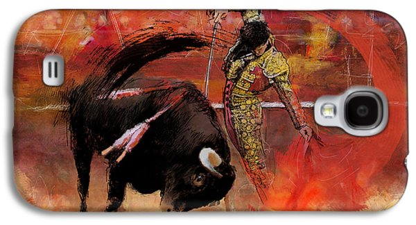 Impressionistic Bullfighting Galaxy S4 Case by Corporate Art Task Force