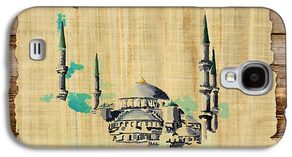 Namaz Paintings Galaxy S4 Cases - Impressionistic Masjid e Nabwi Galaxy S4 Case by Catf