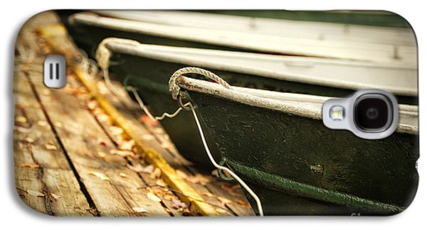 Boats In Water Galaxy S4 Cases - In a line Galaxy S4 Case by Todd Bielby