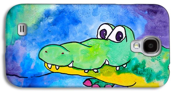 Youthful Galaxy S4 Cases - In Awhile Crocodile Galaxy S4 Case by Debi Starr