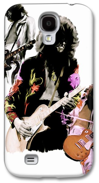 Jimmy Page Galaxy S4 Cases - In Flight IV Jimmy Page  Galaxy S4 Case by Iconic Images Art Gallery David Pucciarelli