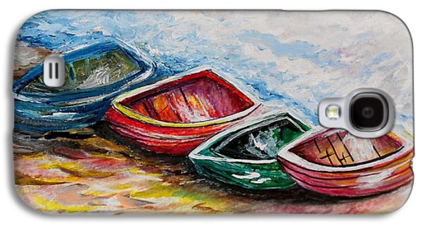 Canoe Mixed Media Galaxy S4 Cases - In From the Sea Galaxy S4 Case by Eloise Schneider