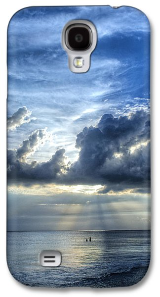 Sunbeams Galaxy S4 Cases - In Heavens Light - Beach Ocean Art by Sharon Cummings Galaxy S4 Case by Sharon Cummings