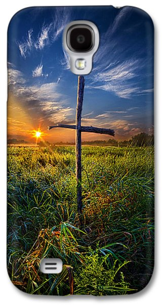 Crosses Photographs Galaxy S4 Cases - In His Glory Galaxy S4 Case by Phil Koch