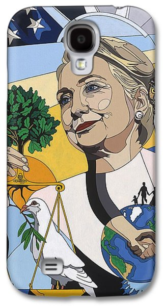 Hillary Clinton Galaxy S4 Cases - In honor of Hillary Clinton Galaxy S4 Case by Konni Jensen