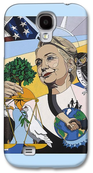 In Honor Of Hillary Clinton Galaxy S4 Case by Konni Jensen