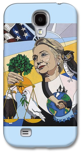 Democrat Paintings Galaxy S4 Cases - In honor of Hillary Clinton Galaxy S4 Case by Konni Jensen