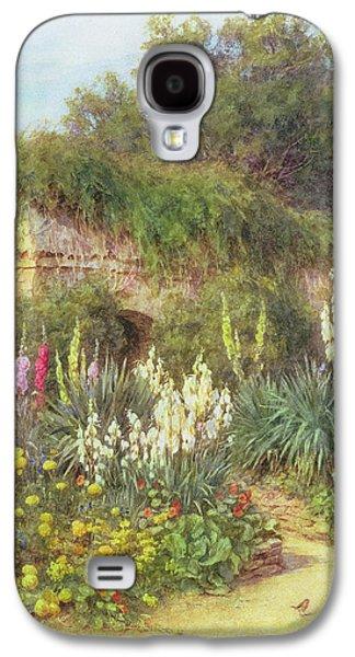 Flora Drawings Galaxy S4 Cases - In Munstead Wood Garden Galaxy S4 Case by Helen Allingham