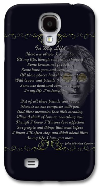 In My Life Golden Scroll Galaxy S4 Case by Movie Poster Prints