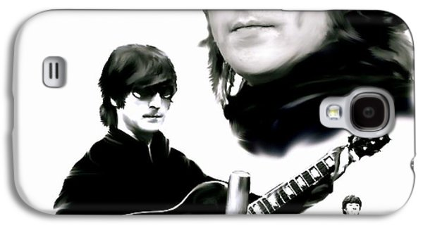 Beatles Drawings Galaxy S4 Cases - In My Life  John Lennon Galaxy S4 Case by Iconic Images Art Gallery David Pucciarelli