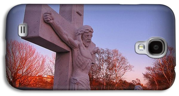 Crucifixtion Galaxy S4 Cases - In Sacrifice is Peace Galaxy S4 Case by John Malone