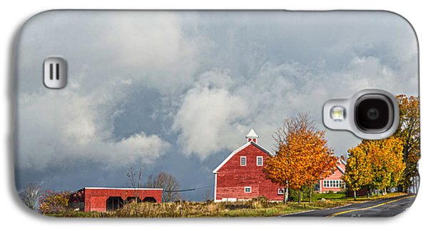 Old Maine Barns Galaxy S4 Cases - In the Clouds Galaxy S4 Case by Alana Ranney