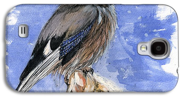Pole Drawings Galaxy S4 Cases - In The Cold Winter Night Galaxy S4 Case by Angel  Tarantella