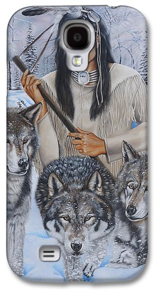 Sonora Paintings Galaxy S4 Cases - In The Company of Wolves Galaxy S4 Case by Jerry Graham