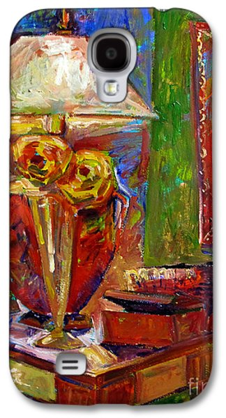 """""""indoor"""" Still Life Paintings Galaxy S4 Cases - In the Corner of My Studio Galaxy S4 Case by Charlie Spear"""
