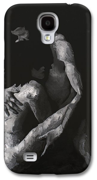 Women Together Paintings Galaxy S4 Cases - In the Flesh VIII Galaxy S4 Case by Alison Schmidt Carson