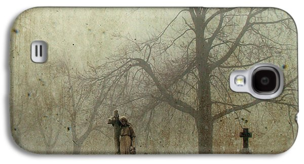 Spooky Digital Galaxy S4 Cases - In the fog - you can see her Galaxy S4 Case by Gothicolors Donna Snyder