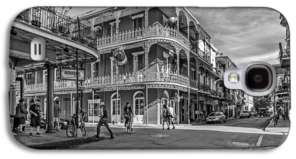 Architecture Metal Prints Galaxy S4 Cases - In the French Quarter monochrome Galaxy S4 Case by Steve Harrington