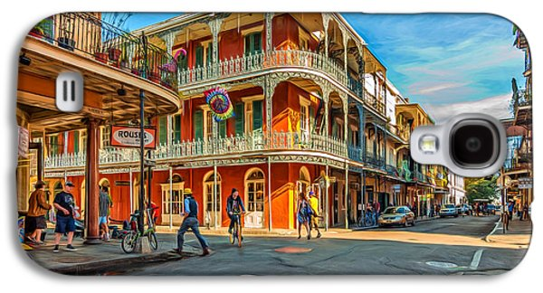 Architecture Metal Prints Galaxy S4 Cases - In the French Quarter - Paint Galaxy S4 Case by Steve Harrington