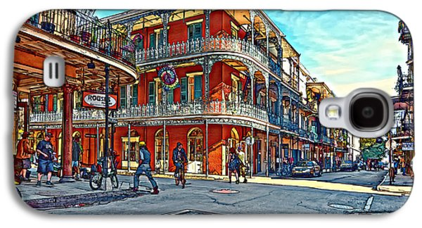 Architecture Metal Prints Galaxy S4 Cases - In the French Quarter painted Galaxy S4 Case by Steve Harrington