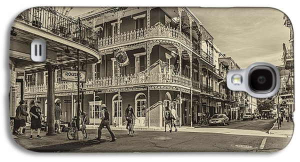 Architecture Metal Prints Galaxy S4 Cases - In the French Quarter sepia Galaxy S4 Case by Steve Harrington