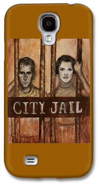 Jail Paintings Galaxy S4 Cases - In the Jailhouse Now Galaxy S4 Case by Regina Brandt