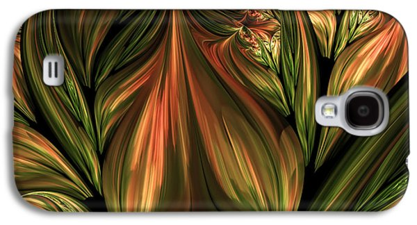 Youthful Digital Art Galaxy S4 Cases - In The Midst Of Nature Abstract Galaxy S4 Case by Georgiana Romanovna