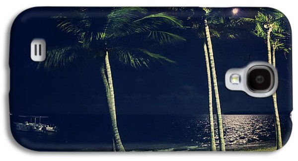 Vacation Digital Art Galaxy S4 Cases - In the Moonlight Galaxy S4 Case by Laurie Search