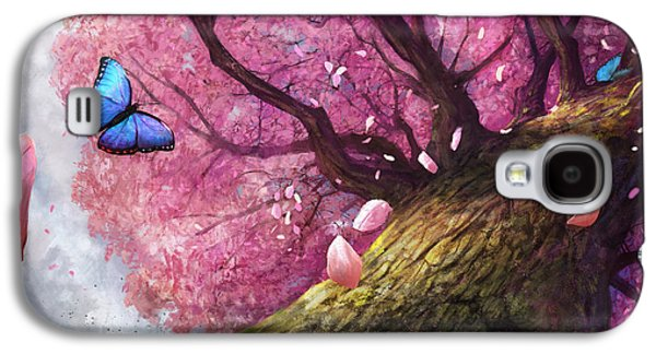 Cherry Blossoms Digital Art Galaxy S4 Cases - In The Shadow Of Peace Galaxy S4 Case by Steve Goad