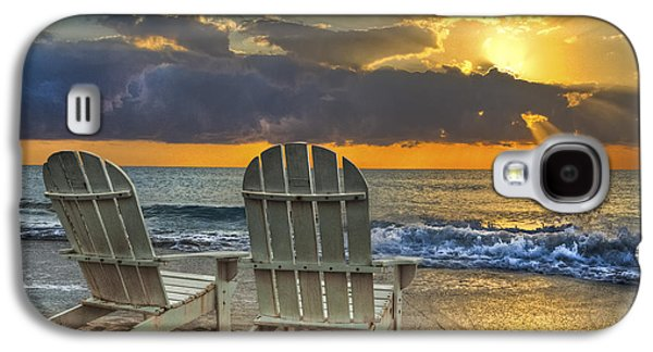 Chair Galaxy S4 Cases - In The Spotlight Galaxy S4 Case by Debra and Dave Vanderlaan