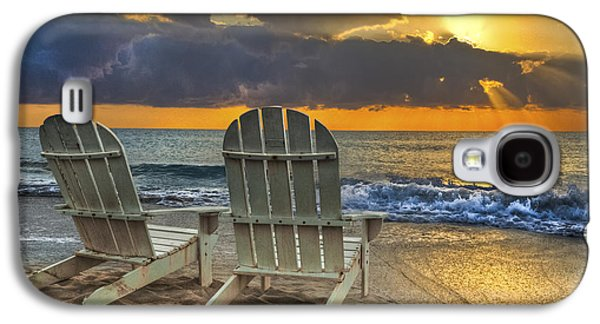 Beach Landscape Galaxy S4 Cases - In The Spotlight Galaxy S4 Case by Debra and Dave Vanderlaan