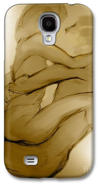 Nudes Mixed Media Galaxy S4 Cases - In Your Arms In Your Heart Galaxy S4 Case by Carolyn Weltman